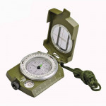 GoldGood DC60-2A Outdoor Multi-function Military Travel Geology Pocket Prismatic American Compass with Luminous Display(Army Gre