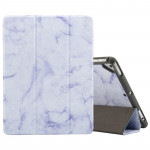 Marble Texture Pattern Horizontal Flip Case for iPad 9.7 (2018) , with Three-folding Holder & Pen Slots(Purple)