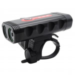 Y10 2 x XTG-3 LEDs 600LM USB Charging LED Bicycle Headlight Front Lamp with 5 Modes