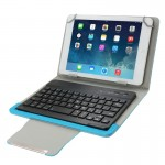 Universal Leather Case with Separable Bluetooth Keyboard and Holder for 7 inch Tablet PC(Blue)