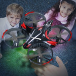 JJR/C H56 Interactive Induction 2.4GHz RC Drone Quadcopter with LED Light & Remote Control, 360 Degree Flip, Headless Mode, One