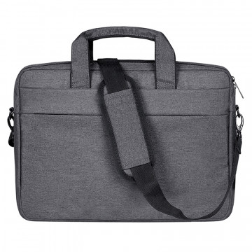 Breathable Wear-resistant Thin and Light Fashion Shoulder Handheld Zipper Laptop Bag with Shoulder Strap, For 15.6 inch and Below Macbook, Samsung, Lenovo, Sony, DELL Alienware, CHUWI, ASUS, HP