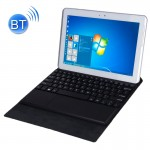 Bluetooth Keyboard Matte Texture Leather Case with Holder for 10.1 inch Windows 7 / 8 / 10 Tablet PC(Black)
