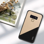 Housse Coque Antichoc TPU + PC + Chiffon pour Galaxy Note 9 Or - Wewoo