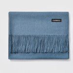Autumn and Winter Season Classic Solid Color Imitation Cashmere Scarf, Size: 60 * 200cm(Baby Blue)