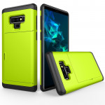 Shockproof Rugged Armor Protective Case for Galaxy Note 9, with Card Slot(Green)
