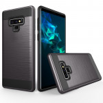 Brushed Texture Shockproof Rugged Armor Protective Case for Galaxy Note 9(Grey)