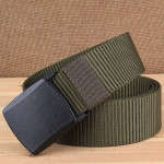 YKK 3.8cm Wide Outdoor Riding Hiking Sports Casual Style Multifunctional Nylon Waist Belt (Army Green)