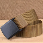 YKK 3.8cm Wide Outdoor Riding Hiking Sports Casual Style Multifunctional Nylon Waist Belt (Brown)