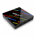 Lecteur multimédia Full HD H96 Max + 4K Ultra HD Smart TV BOX avec télécommande, Android 8.1, RK3328 Cortex A53 Quad Core 64 ...