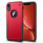 Étui de protection antichoc robuste armure pour iPhone XR (rouge) - Wewoo