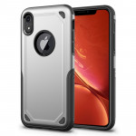 Shockproof Rugged Armor Protective Case for iPhone XR(Silver)