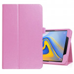 Litchi Texture Horizontal Flip Leather Case for Samsung Galaxy Tab A 10.5 T590 / T595 / T597, with Holder (Pink)