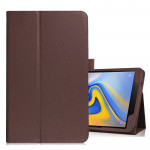 Litchi Texture Horizontal Flip Leather Case for Samsung Galaxy Tab A 10.5 T590 / T595 / T597, with Holder (Brown)