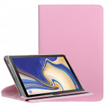 Litchi Texture Horizontal Flip 360 Degrees Rotation Leather Case for Galaxy Tab S4 10.5, with Holder (Pink)