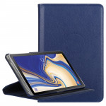 Litchi Texture Horizontal Flip 360 Degrees Rotation Leather Case for Galaxy Tab S4 10.5, with Holder (Dark Blue)
