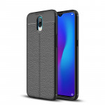 Litchi Texture TPU Shockproof Case for OPPO R17 (Black)
