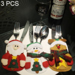 3 PCS 3 in 1 Christmas Decoration Gift Cutlery Holders Set, Random Style Delivery