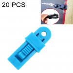 20 PCS Outdoor Tent Awnings Windproof Fixing Clip Multifunctional Wind Rope Buckle (Blue)