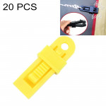 20 PCS Outdoor Tent Awnings Windproof Fixing Clip Multifunctional Wind Rope Buckle (Yellow)