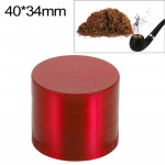 Mini 4-layer 40mm Zinc Alloy Herb Tobacco Cigarette Grinder (Red)