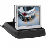 3.5 inch Folding Car Rearview LCD Monitor, 2 Channels AV Input