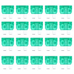100 PCS Auto Mini Blade Fuse, DC 12V 30A(Green)