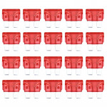 100 PCS Auto Mini Blade Fuse, DC 12V 10A(Red)