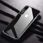 TOTUDESIGN Clear Crystal Series Transparent PC Case for iPhone XR(Black)