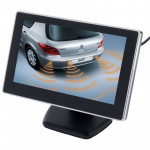 4.3 inch Car Rearview LCD Monitor with Stand, 2 Channels AV Input(Black)