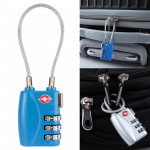 JASIT TSA719 Zinc Alloy 3-Digit Password TSA Lock Travel Luggage Padlock(Blue)