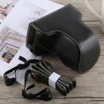 Full Body Camera PU Leather Case Bag with Strap for Fujifilm X-A5 (Black)