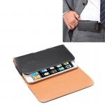 Crazy Horse Texture Vertical Flip Leather Case / Waist Bag with Back Splint for iPhone 4G