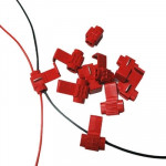 100 PCS Cable Clip, Adapt to Line Diameter: 0.3-0.7mm(Red)