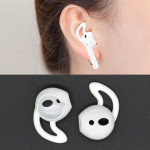 Wireless Bluetooth Earphone Silicone Ear Caps Earpads for Apple AirPods (White)