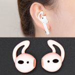 Wireless Bluetooth Earphone Silicone Ear Caps Earpads for Apple AirPods (Pink)
