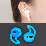 Wireless Bluetooth Earphone Silicone Ear Caps Earpads for Apple AirPods (Blue)