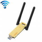 AC1200Mbps 2.4GHz & 5GHz Dual Band USB 3.0 WiFi Adapter External Network Card with 2 External Antenna (Yellow)