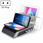 4 USB Ports Qi Standard Wireless Charger Phone Desktop Stand Holder, For iPhone, Huawei, Xiaomi, HTC, Sony and Other Smart Phone