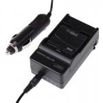 Digital Camera Battery Charger with Car Charger for Xiaomi Xiaoyi, US Plug