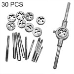 30 PCS Multi-specification Tap and Die Combination Set Hand Metric Wire Tapping Wrench Winch