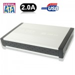 High Speed 3.5 inch HDD SATA & IDE External Case,Support USB 2.0(Silver)