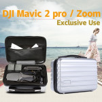 Shockproof Waterproof Portable Case PC Hard Shell Storage Bag for DJI Mavic Zoom and Accessories (Silver)