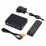 HD 080P PVR K2 DVB-T2 Digital Terrestrial Receiver Broadcasting TV Box with Remote Control (Black)