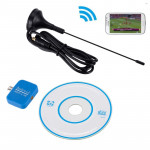 For Android Phones USB Dongle SDR+R820T2 DVB-T SDR TV Tuner Radio Receiver HOT (Blue)