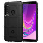 Shockproof Protector Cover Full Coverage Silicone Case for Galaxy A9 (2018) (Black)