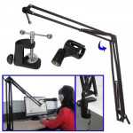 Adjustable Table Recording Microphone Stand, Clip Diameter: 25-28mm