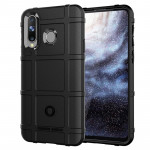 Shockproof Protector Cover Full Coverage Silicone Case for Galaxy A8s(Black)