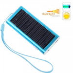 1350mAh Solar Charger for Mobile phone, Digital camera, PDA, MP3/MP4 Player(Baby Blue)
