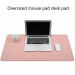 Multifunction Business PVC Leather Mouse Pad Keyboard Pad Table Mat Computer Desk Mat, Size: 90 x 45cm (Pink)